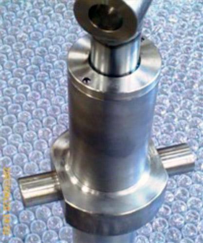 Vérin hydraulique inox, fixation par tourillon