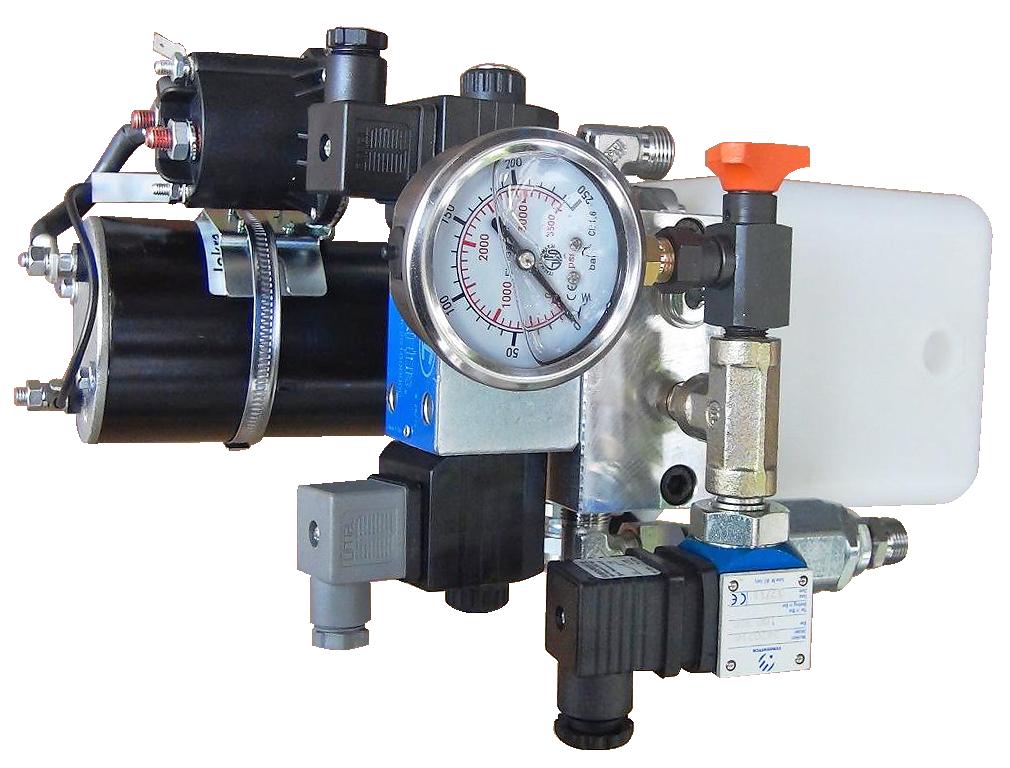 3a industrie, Centrale hydraulique avec alimentation continue, réservoir plastique, distributeur électrique