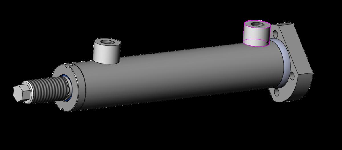 Vérin hydraulique inox fonctionnant à l'eau