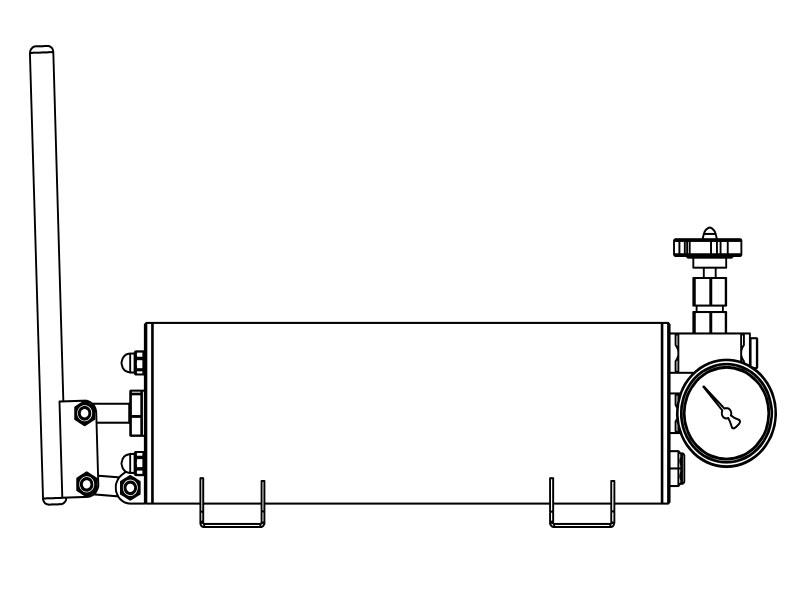 Pompe à main inox haute pression