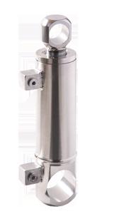 Vérin hydraulique inox pour extrudeuse d'aliment pour bétail, équipé de joints hautes températures